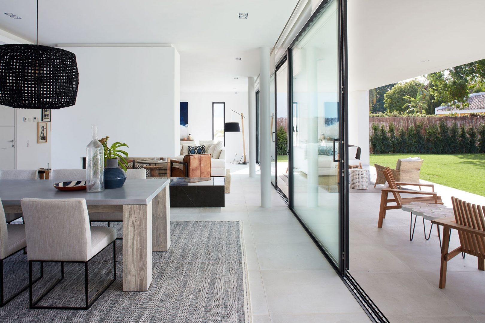 interiorismo villa marbella Guadalmina salon 2