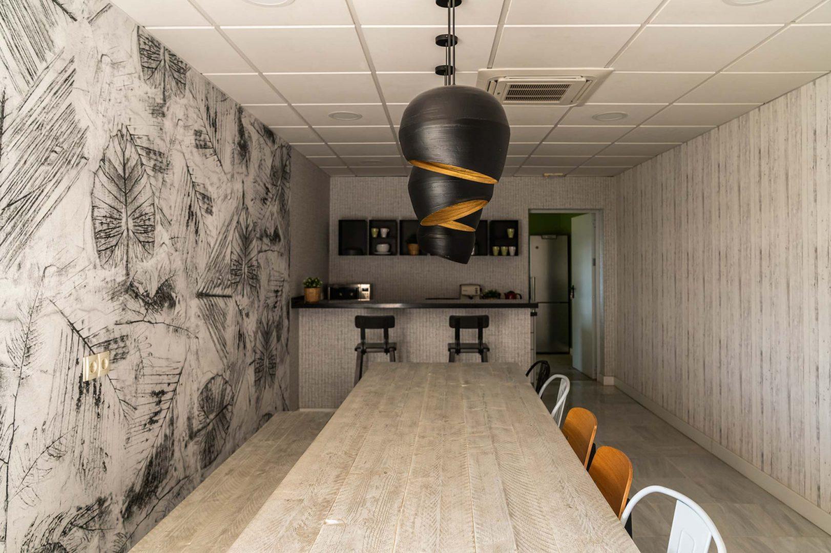 interiorismo oficinas malaga cafeteria