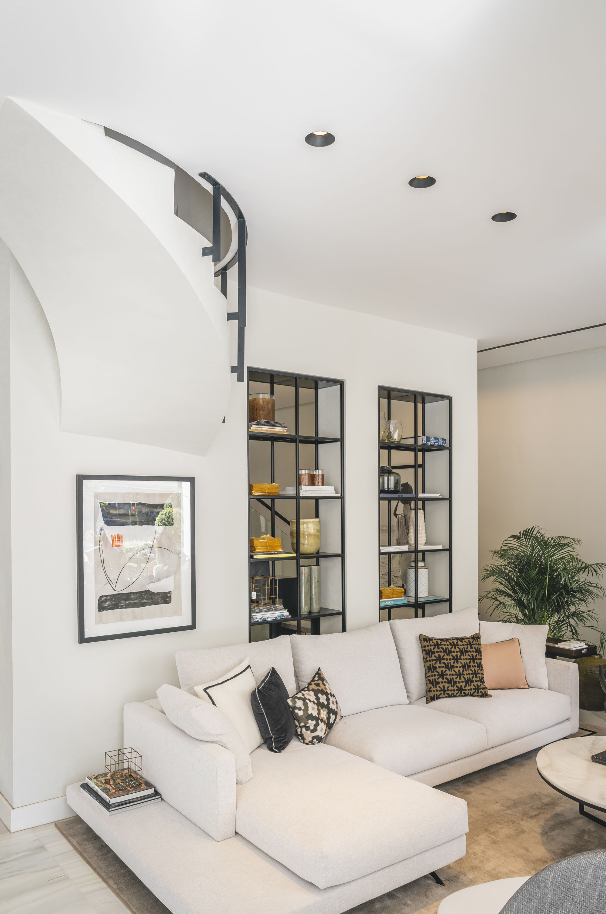 interior design showroom marbella living room view