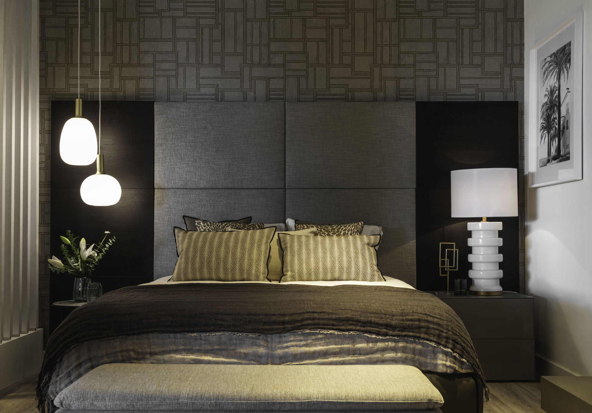 interior design showroom Malaga bedroom