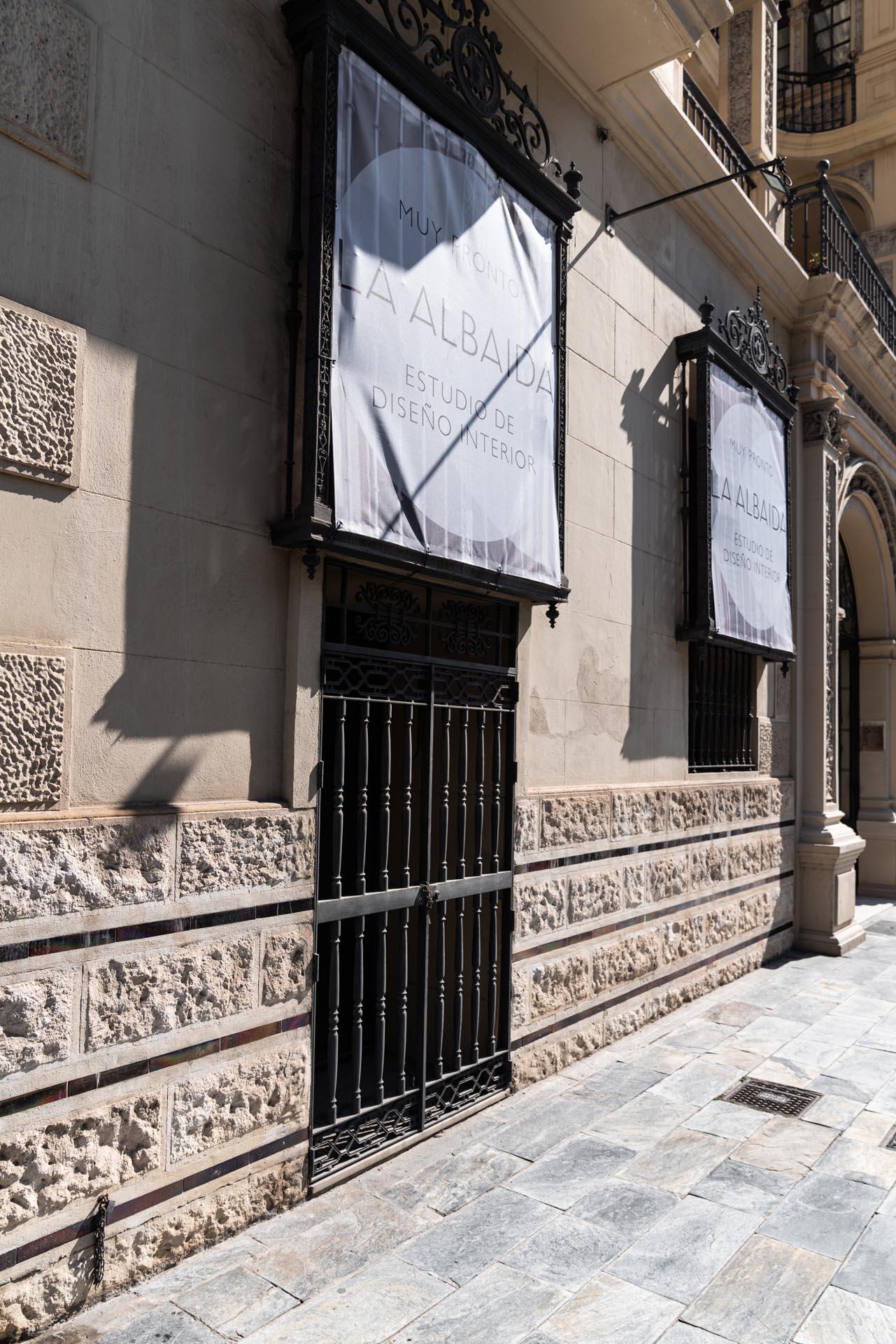 estudio interiorismo malaga La Albaida nuevo showroom detalles fachada calle